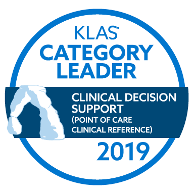 Wolters Kluwer UpToDate Best in KLAS Category Leader for CLinical Decision Support Disease Reference
