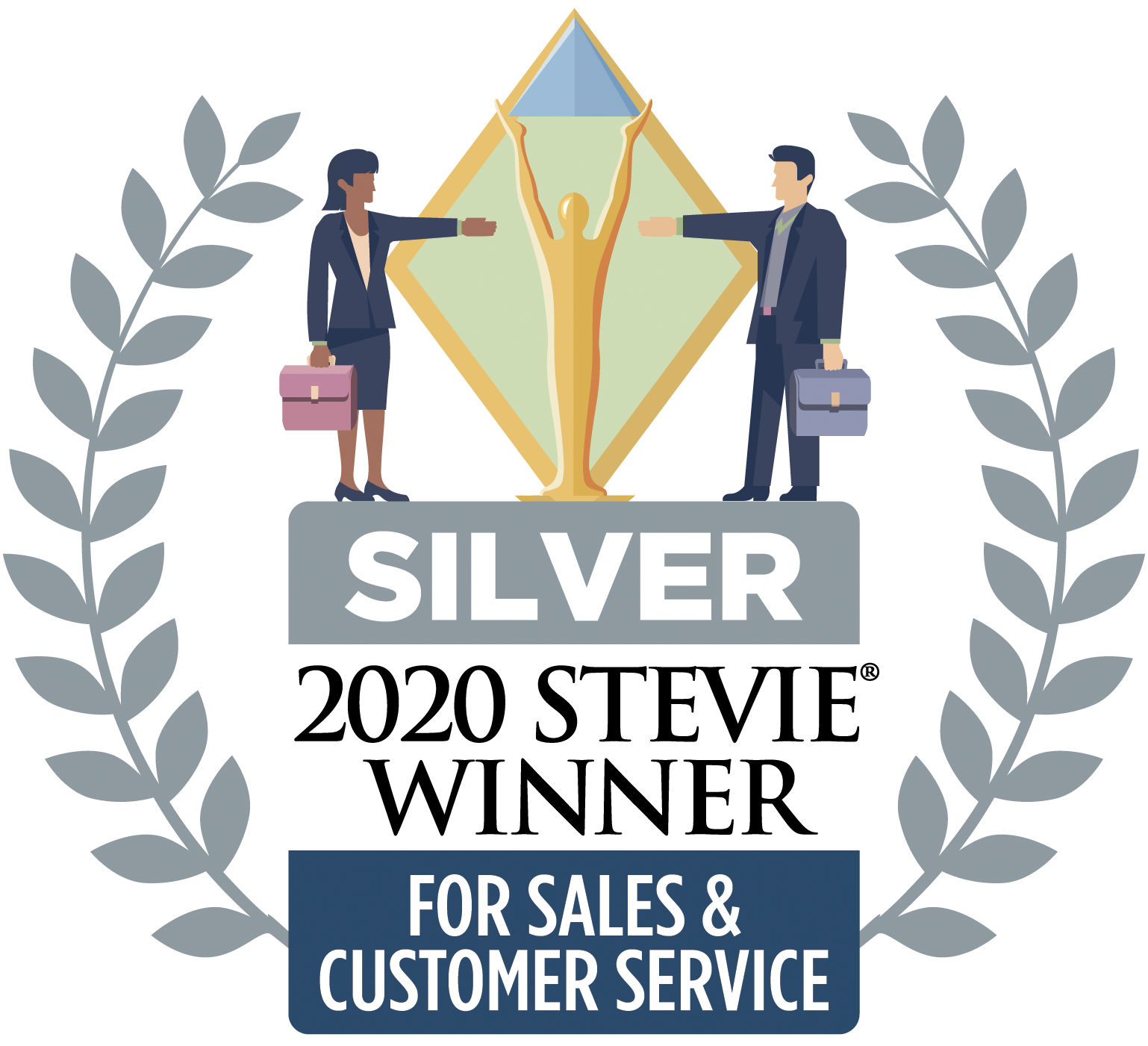 2020 Stevie Winner for Sales and Customer Service - Silver