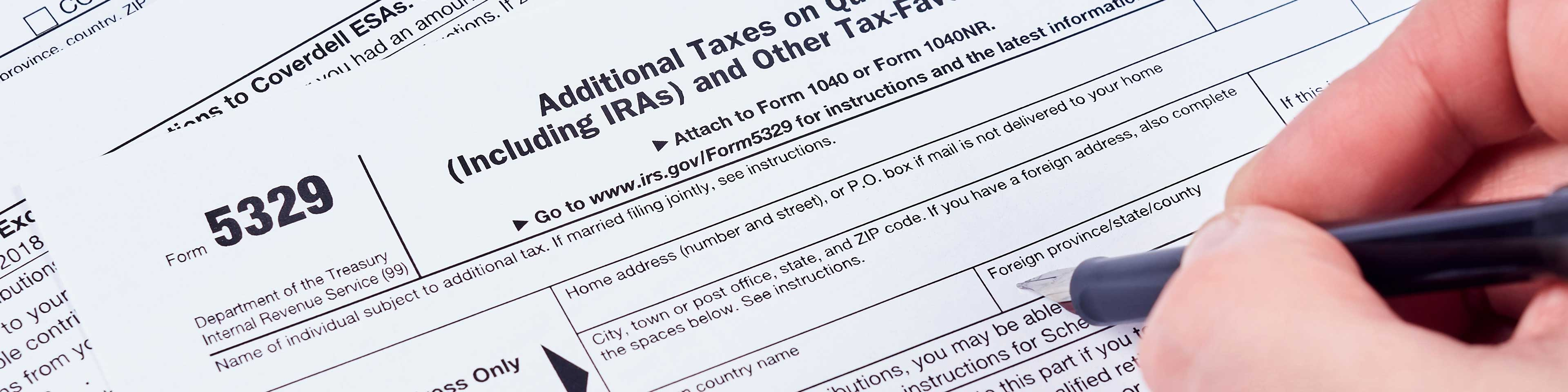 IRA distributions prior to age 59½: When must an individual file IRS Form 5329?