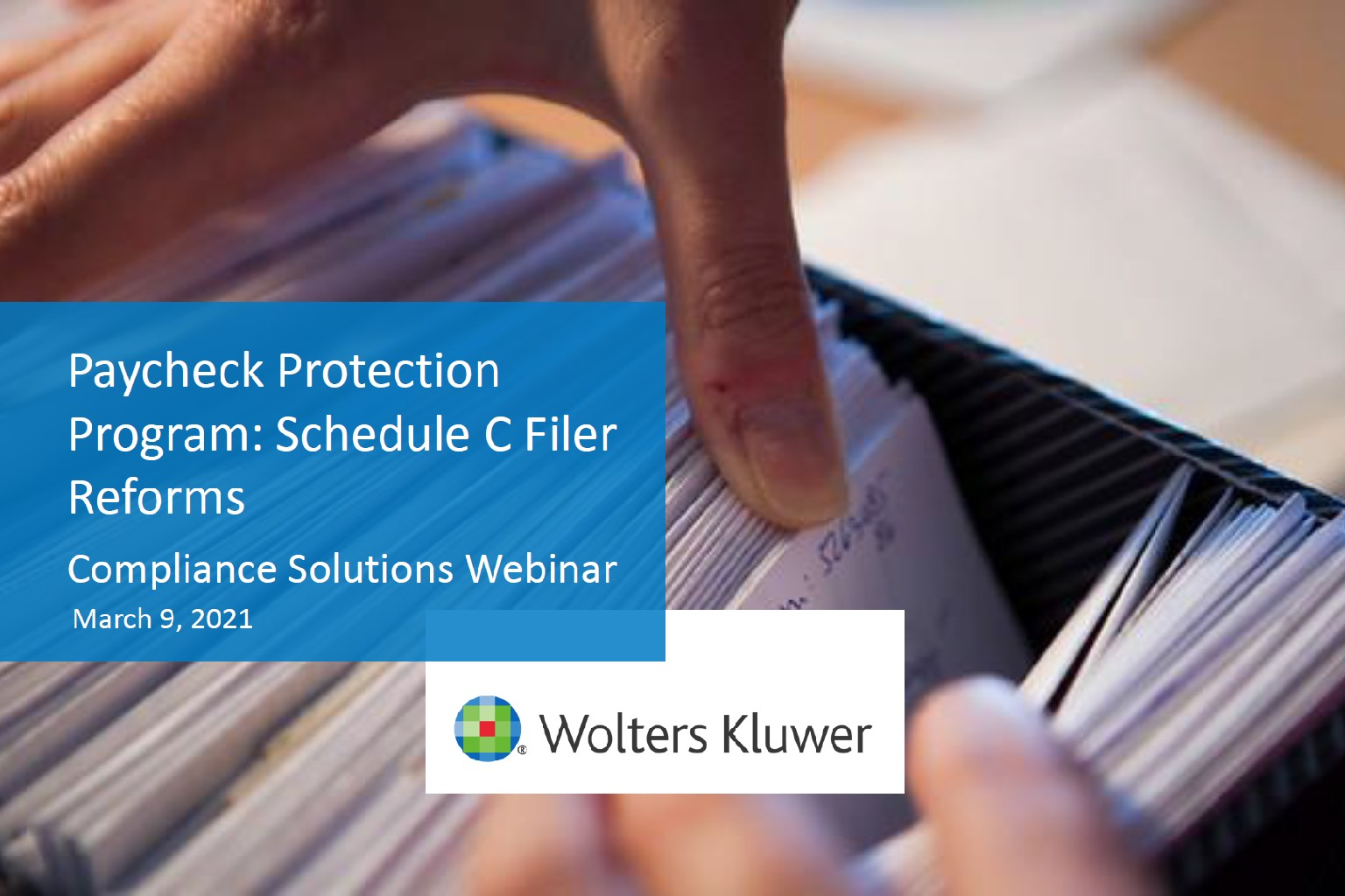 Paycheck Protection Program: Schedule C Filer Reforms