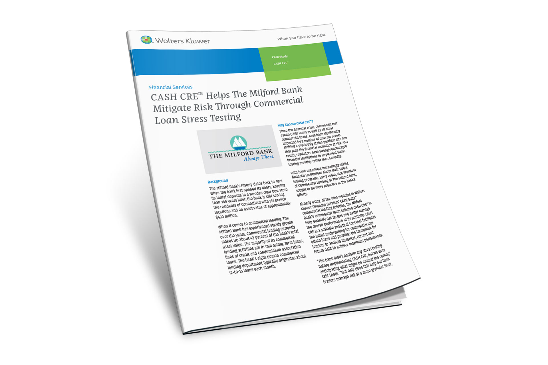 CASH CRE Case Study - Milford Bank