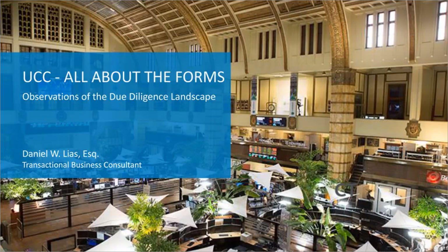 On-Demand Webinar: UCC - All About the Forms