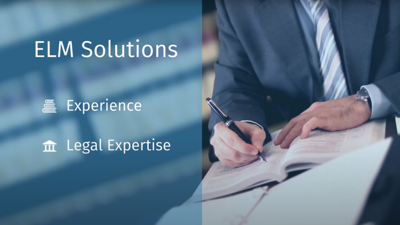 Enterprise legal management software
