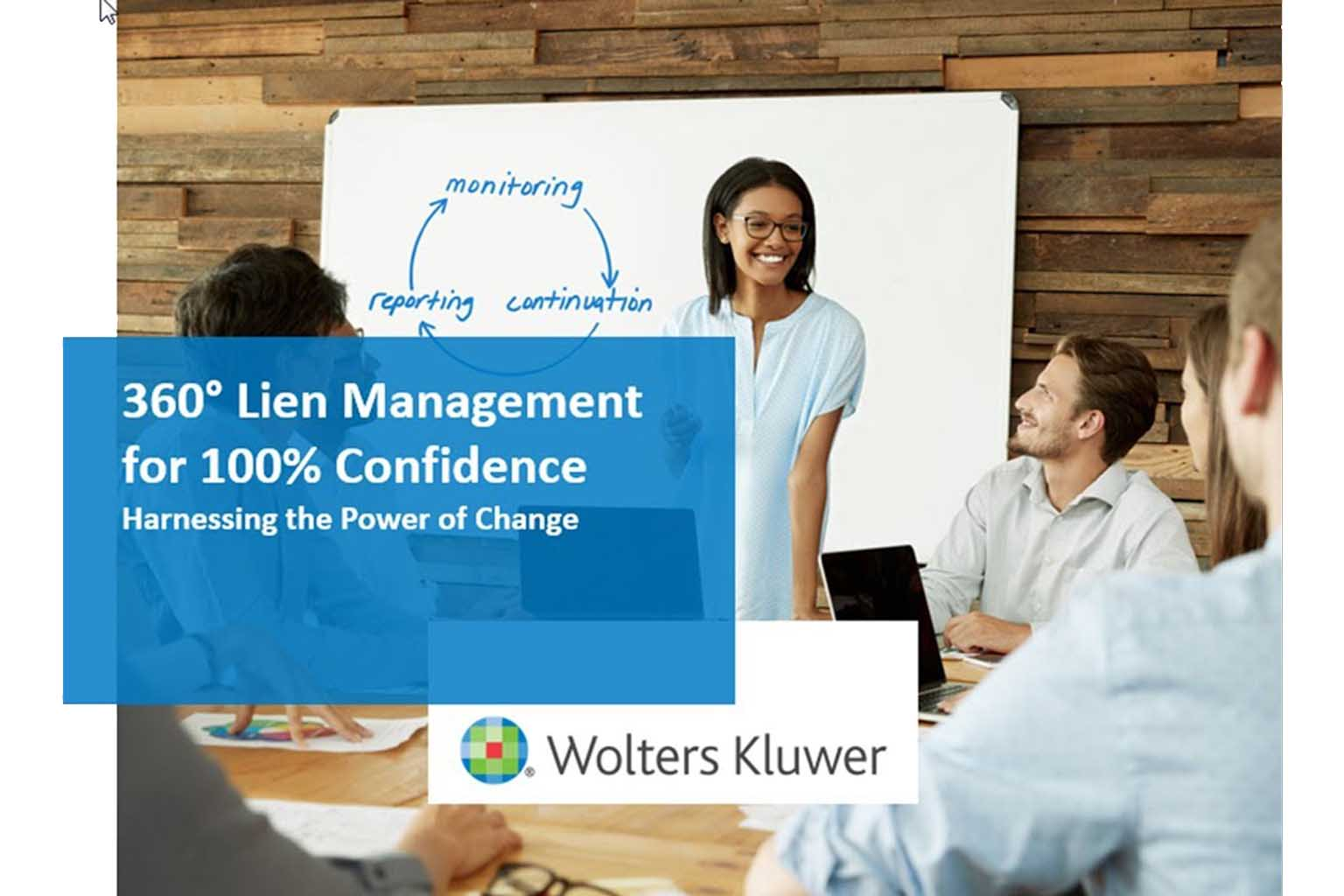 Lien Management for 100% Confidence webinar title card