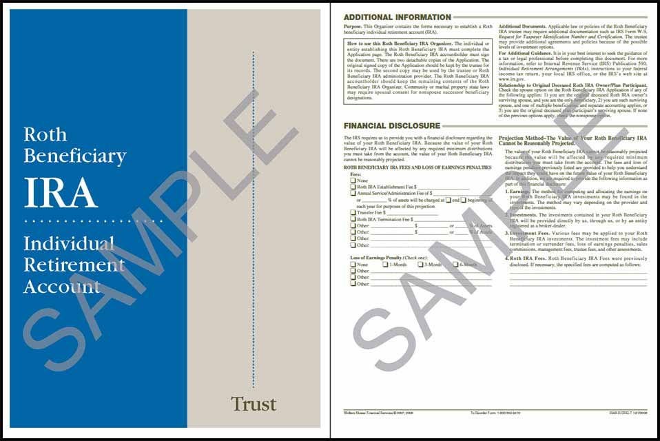 ROTH Beneficialy IRA Organizer Trust Sample
