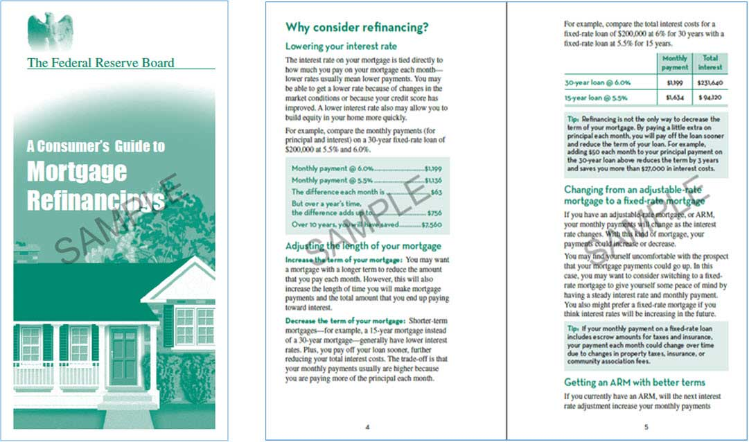 consumers guide to mortgage refinancing