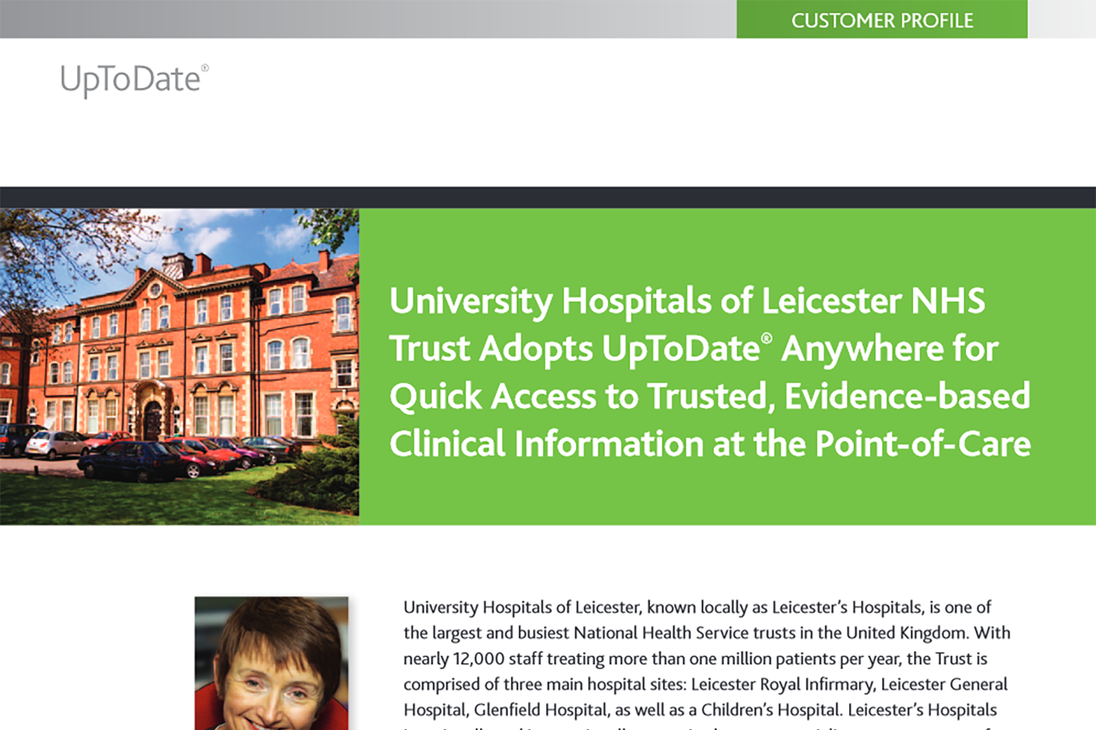 UpToDate Success Story: University Hospitals of Leicester NHS Trust
