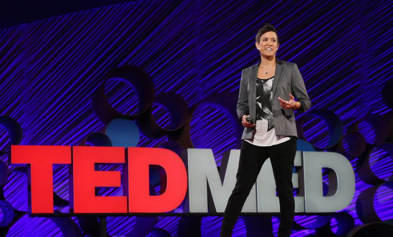 Vanessa Ruiz speaking at TEDMED