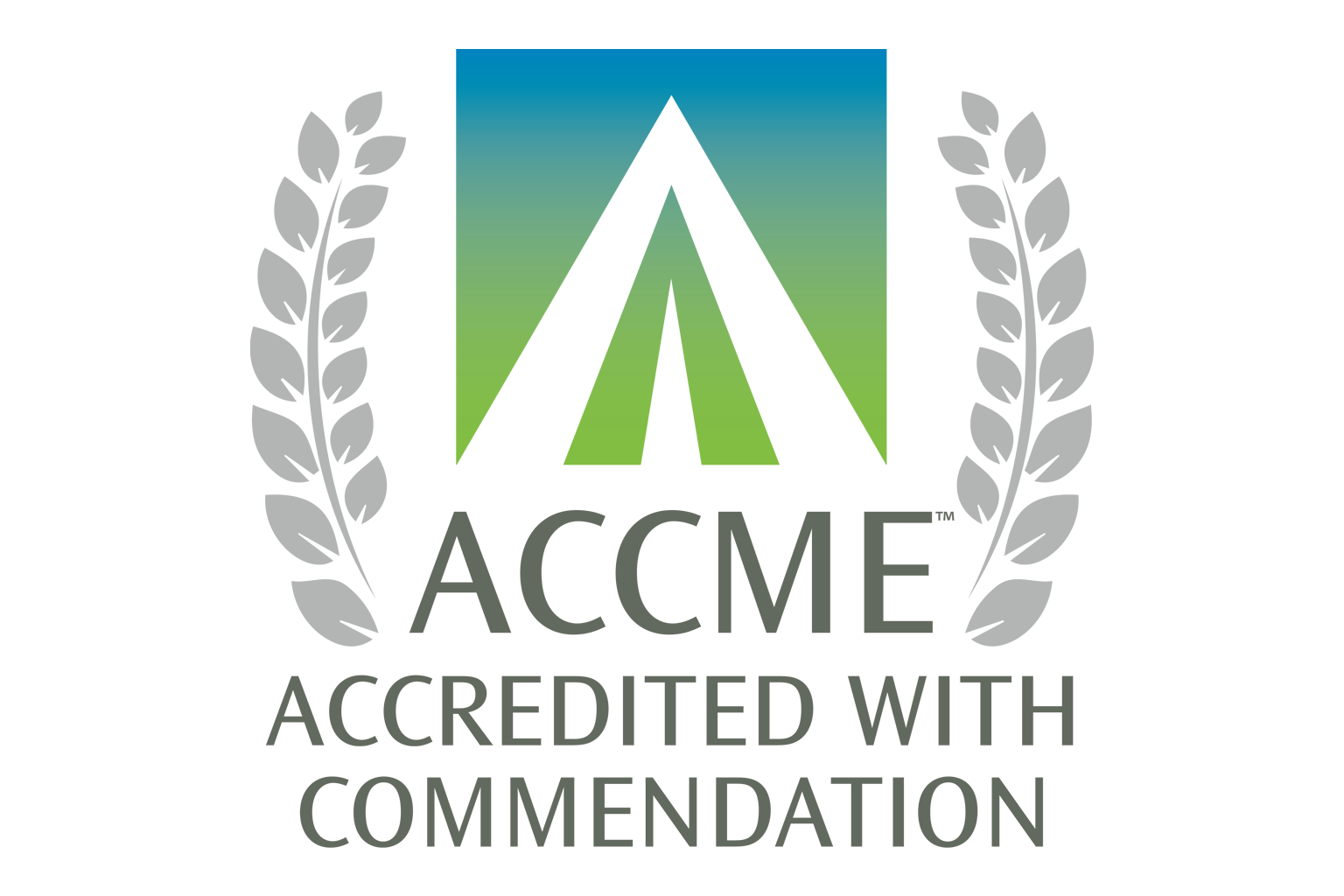 graphic of ACCME Accreditated with Commendation logo