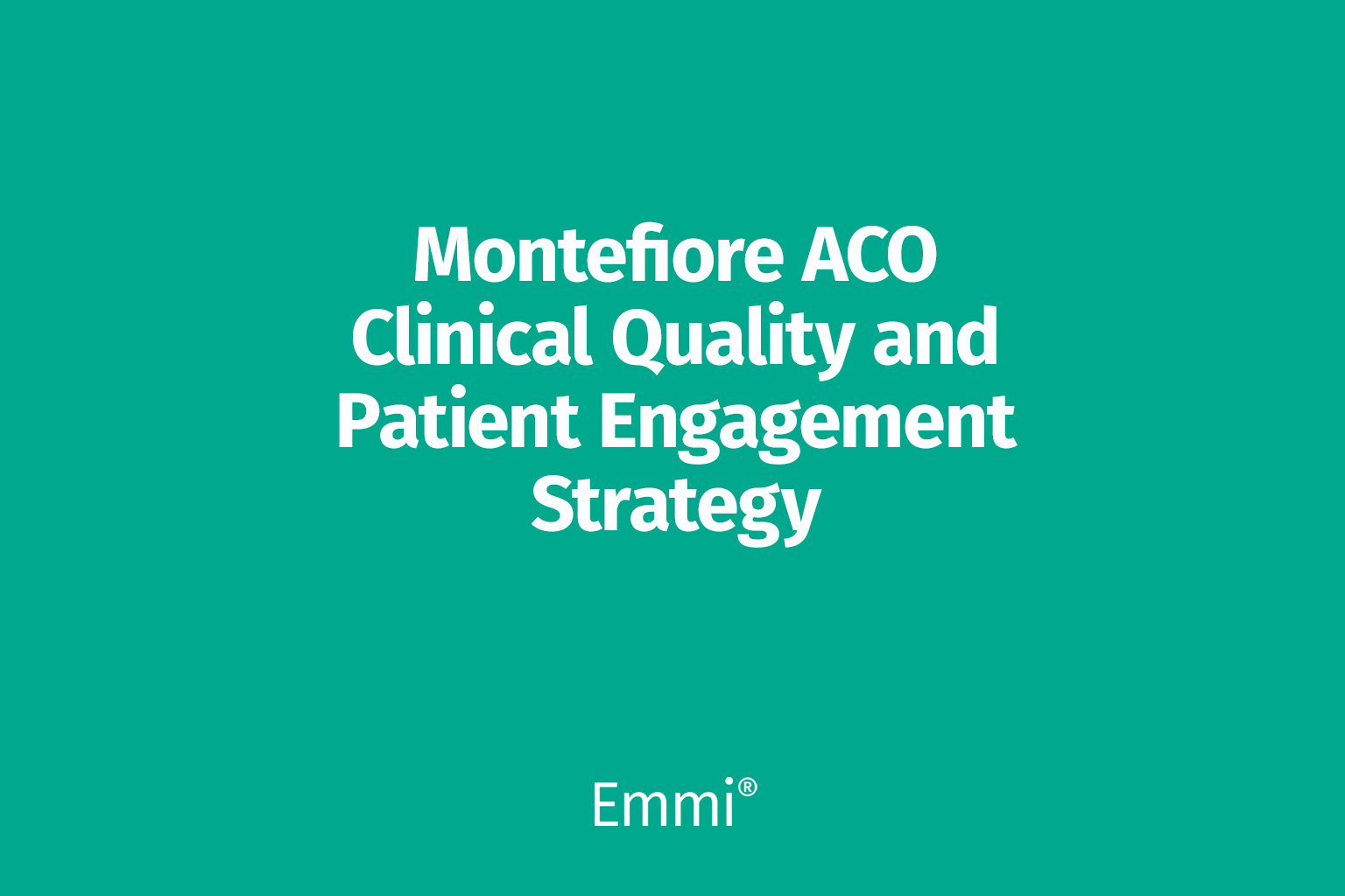 Montefiore embraces Emmi programs as the foundation of its population health strategy