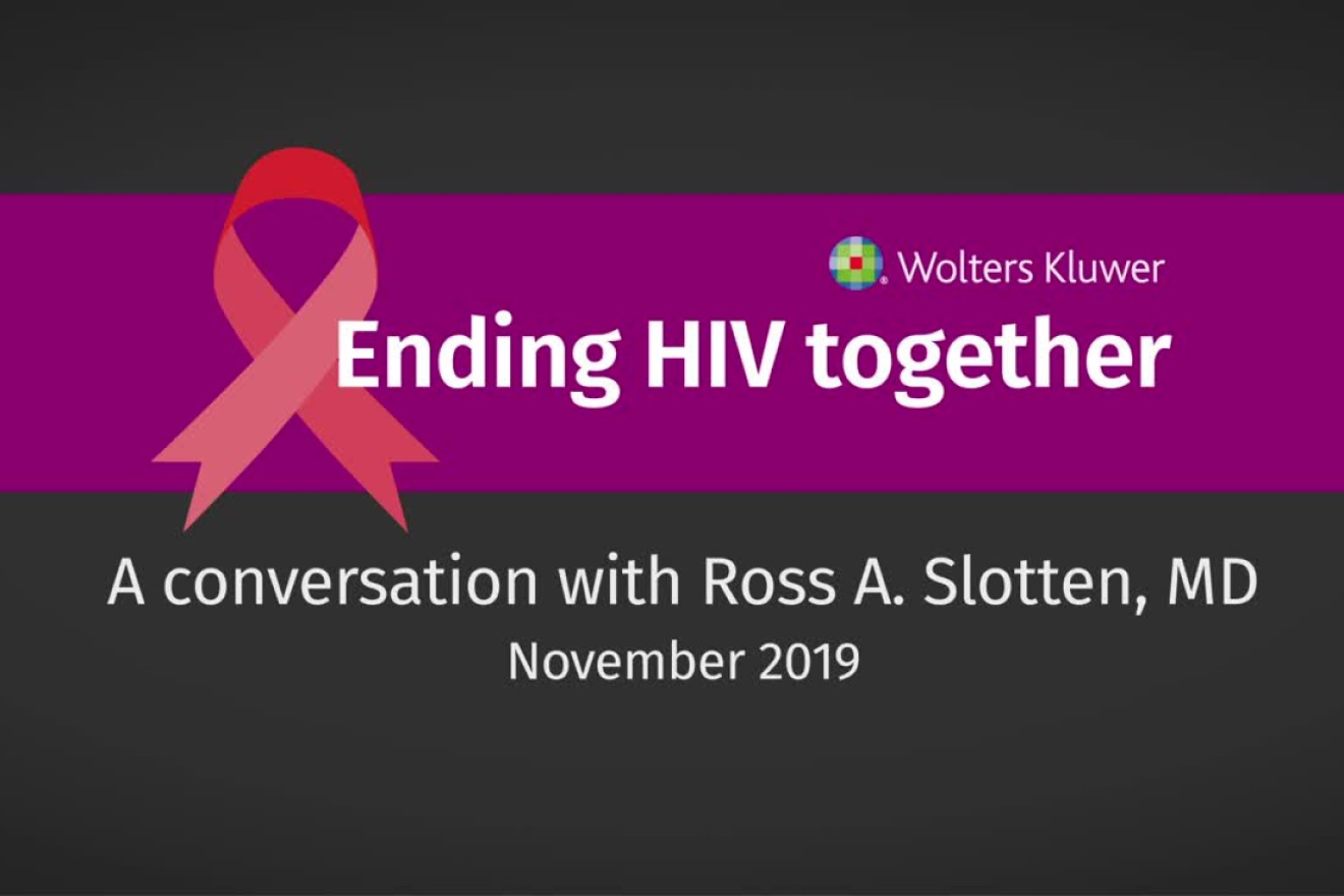 video screen - ending HIV together