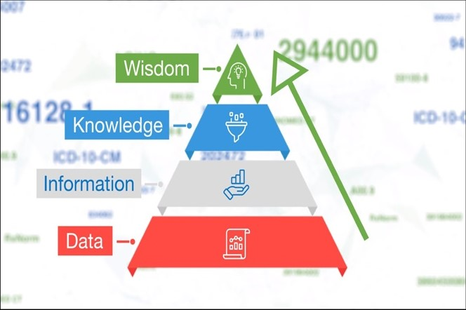 data informs information which informs knowledge and wisdom