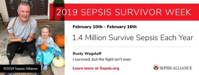 Banner for 2019 Sepsis Survivor Week