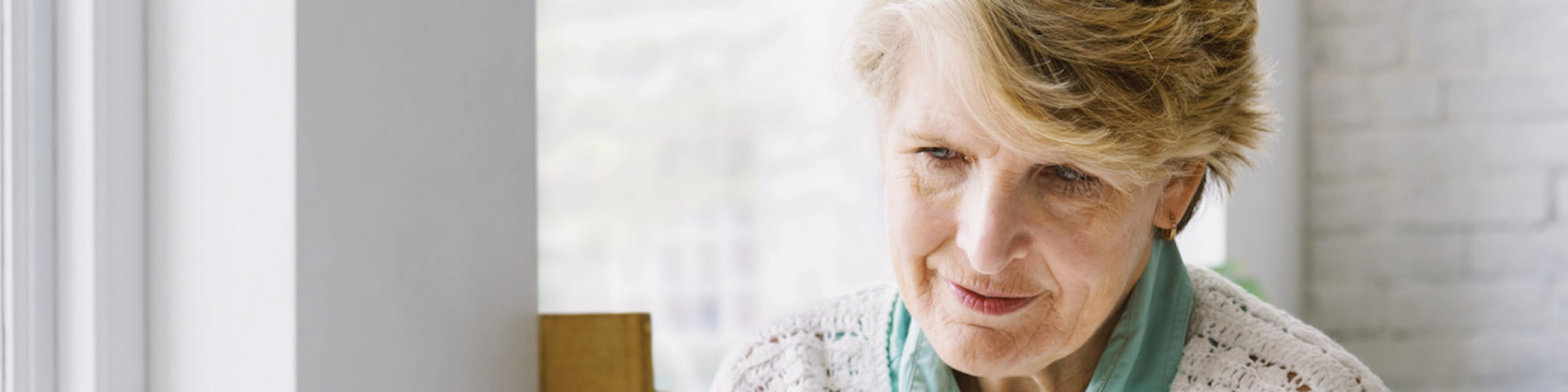 Older female patient thinking about her treatment options