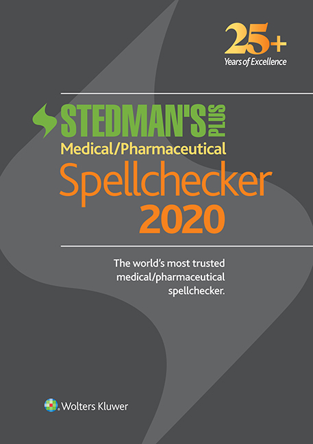 Stedman's Plus Medical/Pharmaceutical Spellchecker book cover