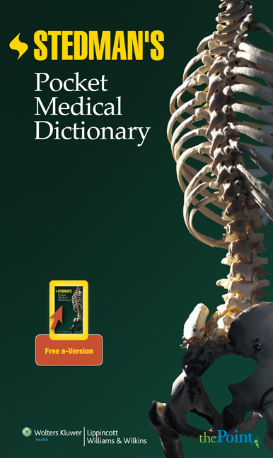 Stedman's Pocket Medical Dictionary book cover