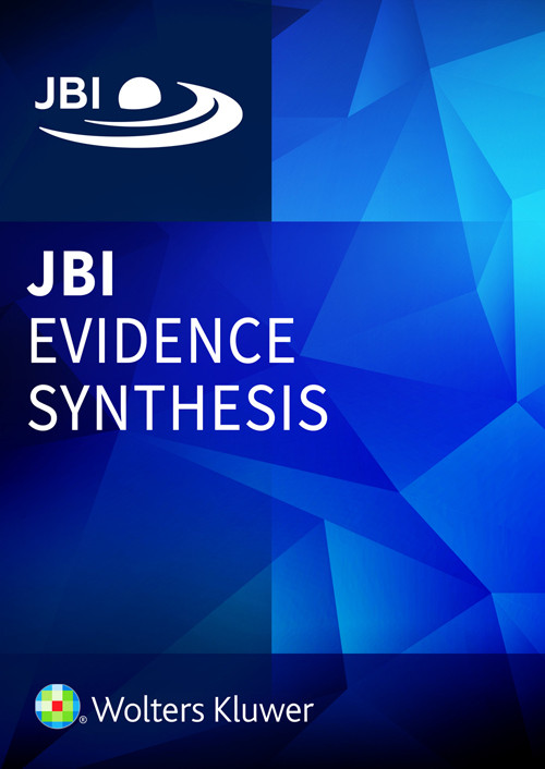 JBI Evidence Synthesis book cover
