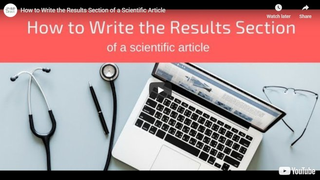 Video: How to Write the Results Section of a Scientific Article