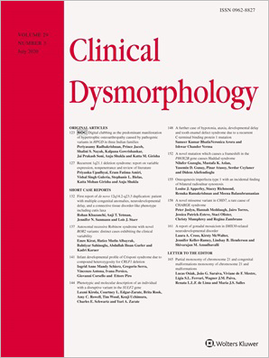 Clinical Dysmorphology