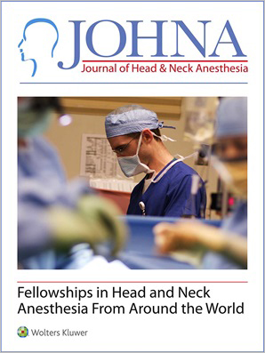 Journal of Head & Neck Anesthesia