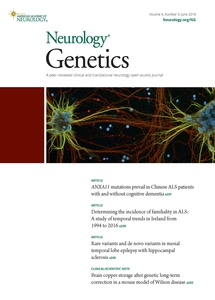 Neurology Genetics journal cover