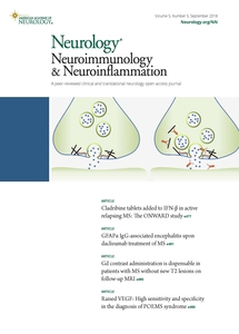 Neurology Neuroimmunology and Neuroinflamation journal cover