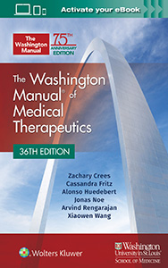 The Washington Manual of Medical Therapeutics book cover