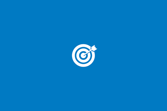bullseye-hit target icon on blue background