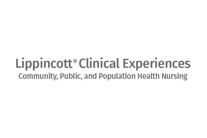 Lippincott Clinical Experiences: Community, Public, and Population Health Nursing logo