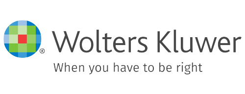Wolters Kluwer, when you have to be right logo