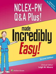 NCLEX-PN Q&A Plus Made Incredibly Easy book cover