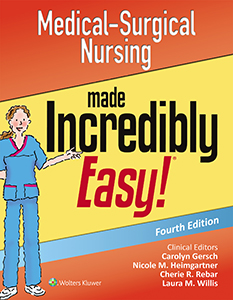 Medical-Surgical Nursing Made Incredibly Easy! book cover