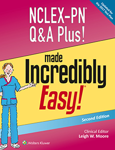 NCLEX-PN Q&A Plus! Made Incredibly Easy! book cover