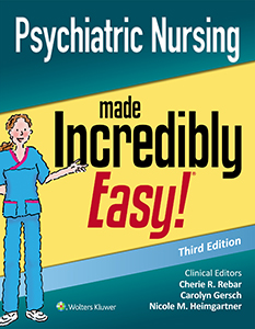 Psychiatric Nursing Made Incredibly Easy! book cover