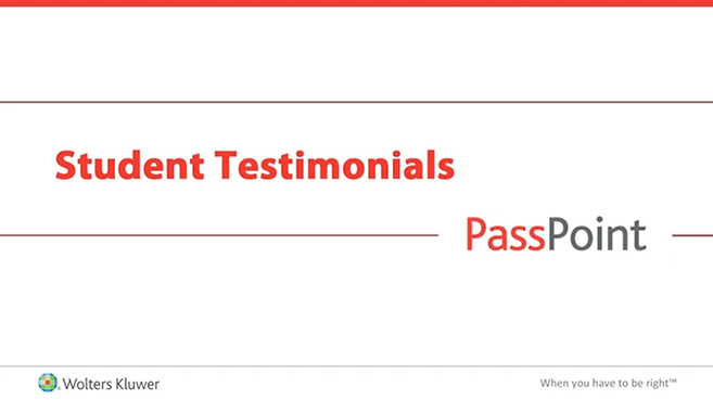 Screenshot of Student testimonials: Lippincott PassPoint video