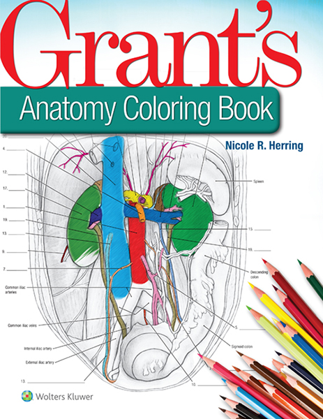 Grant's Anatomy Coloring Book book cover
