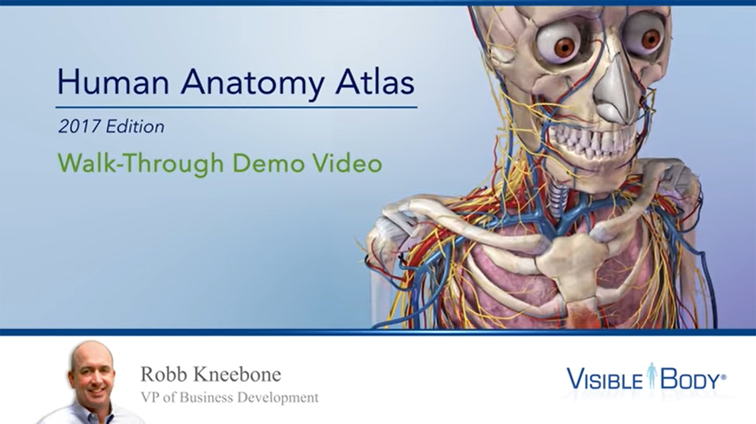 Screenshot of A Walkthrough of Human Anatomy Atlas with Robb Kneebone | Visible Body video