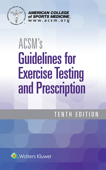 ACsm guidelines for testing
