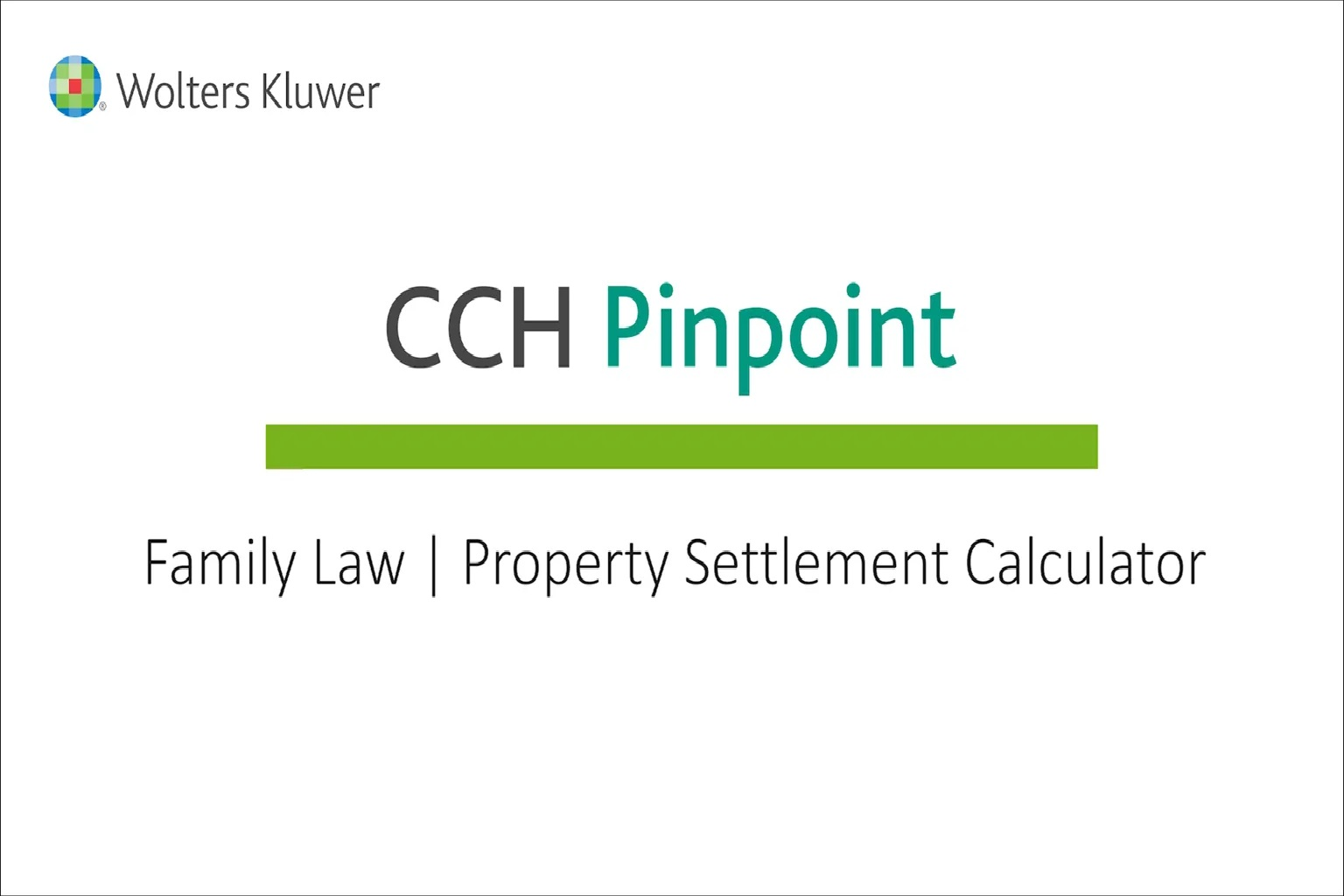 Family Law – Property Settlement Calculator
