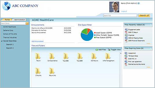 CCH Portal screenshot