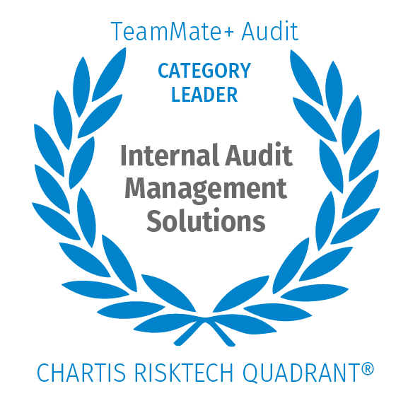 Category Leader in Internal Audit Management Solutions by Chartis Risktech Quadrant®