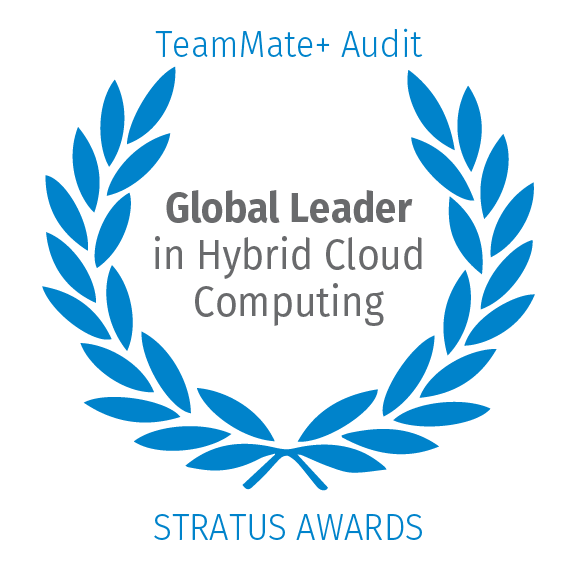 TeamMate+ Audit, Global Leader in Hybrid Cloud Computing by Stratus Awards
